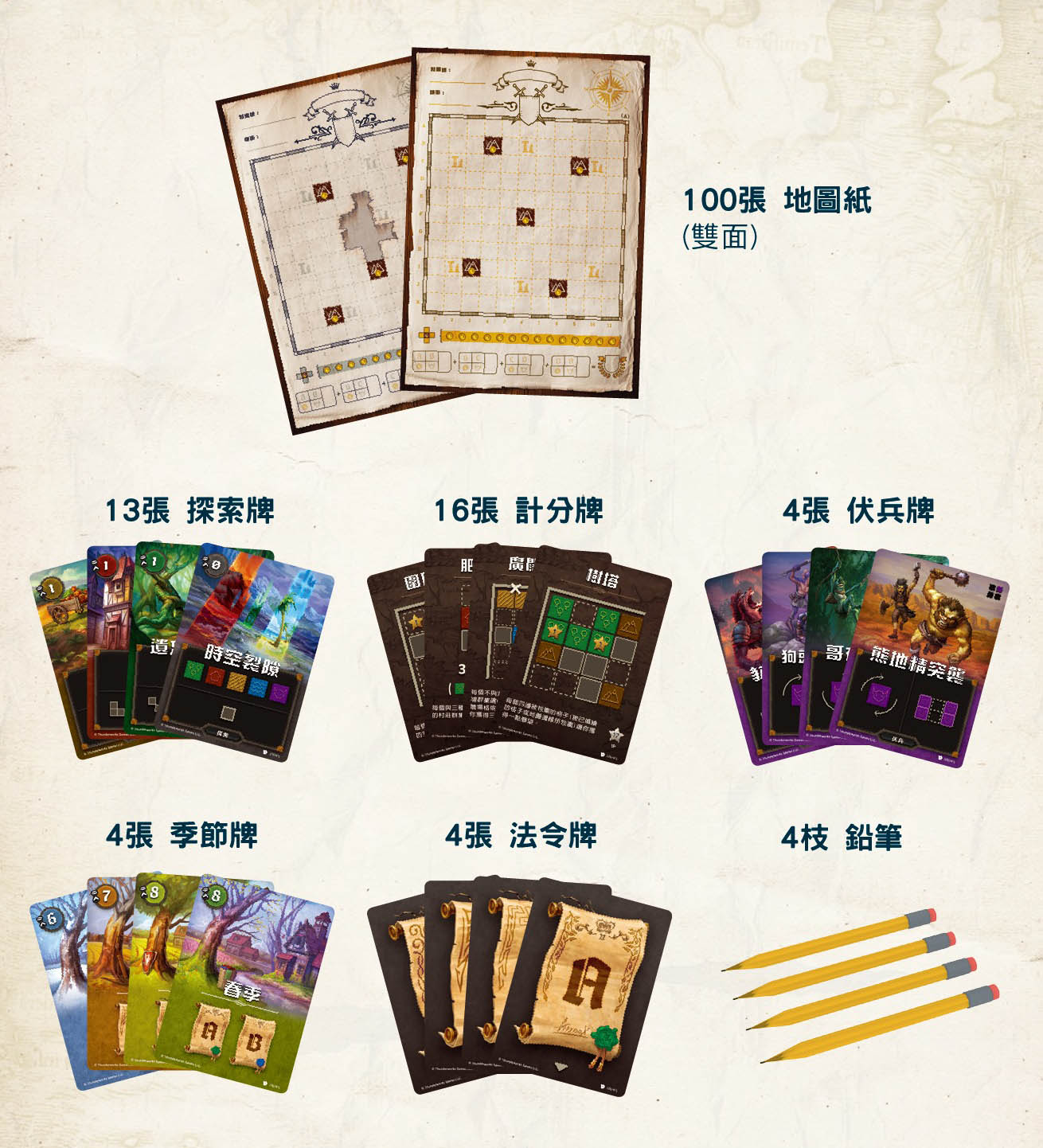 內容 Cartographers: A Roll Player Tale 王國製圖師 | 香港桌遊天地 Welcome on Board Game Club Hong Kong