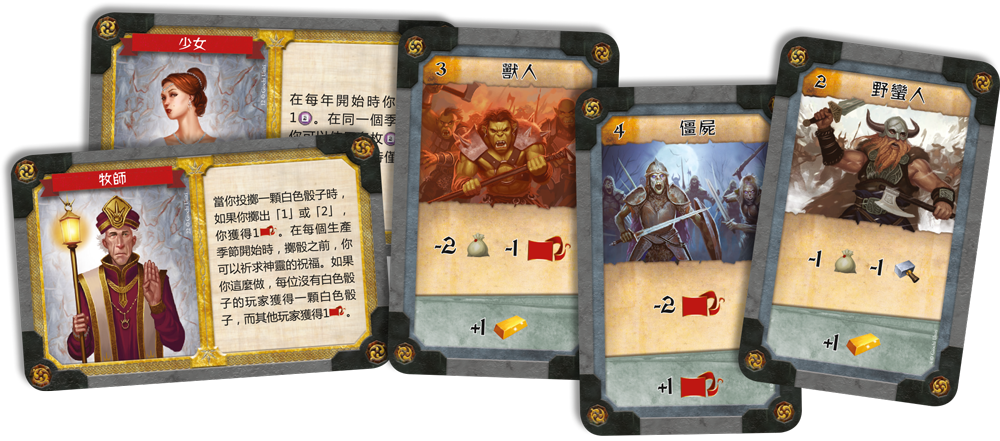 Cards:Kingsburg Second Edition 國王堡傳奇|香港桌遊天地Welcome On Board Game Club|輕策略戰爭遊戲2-4人