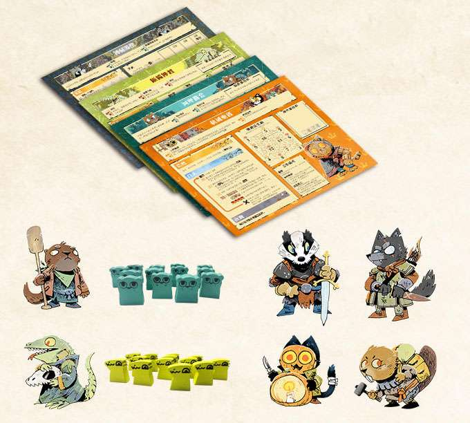 Content:茂林源記:河岸擴充Root:The Riverfolk Expansion|香港桌遊天地Welcome On Board Game Club Hong Kong|動物森林戰爭重策略遊戲1-6人