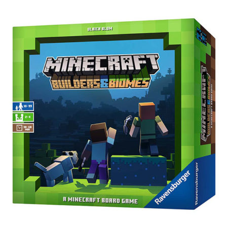 Cover: Minecraft: Builders & Biomes 當個創世神:建造者&生態域  香港桌遊天地Welcome on Board Game Club 家庭親子遊戲2-4人